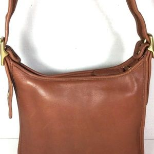 Coach Brown Leather Shoulder Bag Made in USA